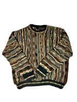J Ferrar 1990's Coogi Style Cosby Biggie 3D Textured Sweater XL
