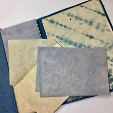 Handmade Paper Stationery Vintage Tie Dye Writing Sheets Cards Envelopes Folder