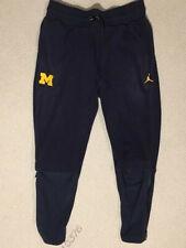 $130 Michigan Wolverines Jordan Jumpman Therma Warm up Fleece Pants Mens Nike
