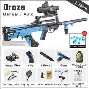 Groza Electric Water Bullets Ball Toy Gun Soldier Assault Boys Toy Shooting guns