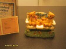 Cherished Teddies / Two Bears on Bench 1996 Event Figurine - Ltd Edition