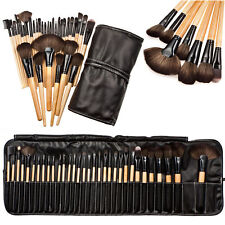 Professional Makeup Brush Kit Set of 32 Cosmetic Make Up Beauty Brushes + Bag A