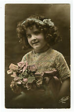 c 1914 Cute Kids Children CUTE LITTLE GIRL photo postcard