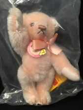 "Steiff #011979 7-1/2"" Teddy Bear Peach Mohair Teddile #892/1,150 1992 NEW in Bag"