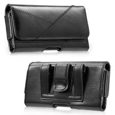 GENUINE LEATHER HORIZONTAL CARRYING POUCH CASE BELT CLIP HOLSTER FOR CELL PHONES