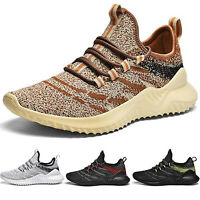 Men's Lightweight Breathable Mesh Sports Walking Shoes Tennis Sneakers Size 9 10