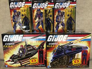 GI JOE Retro Cobra HISS III & RIP IT + FANG & Pilot. 2x Cobra Trooper + Officer
