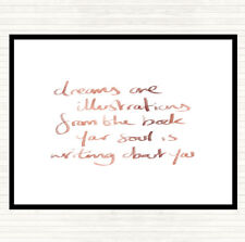Rose Gold Dreams Are Illustrations Quote Mouse Mat Pad
