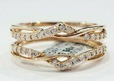 Sale 14k Rose Gold Solitaire Diamonds Enhancer Guard Wrap Wedding Bridal Ladies