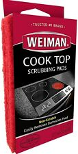 Weiman Cook Top Scrubbing Pads Glass Cleaning Stove Top Kitchen Cleaner Polish