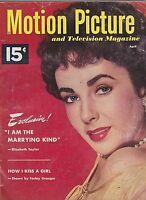 APRIL 1952  MOTION PICTURE vintage movie magazine LIZ TAYLOR