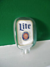 VINTAGE LITE BEER ACRYLIC TAP HANDLE (BAR SIGN)