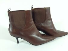 Michael Kors Women's Brown Leather Ankle Boots Pointed Toe Size 6 MSRP $550.00