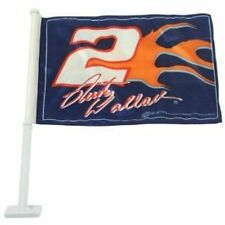 RUSTY WALLACE #2 Penske Racing NASCAR Collectible Series Double Sided Car Flag