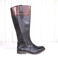 New Wolverine Shannon Leather Riding Boots Size 5.5 Womens Black and Brown nwob