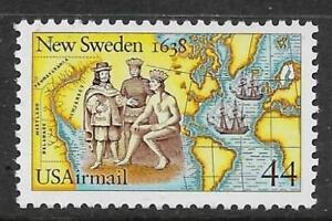 xsb256 Scott C117 US Air Mail Stamp 1988 44c New Sweden MNH