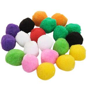 40x Assorted Color Fluffy Plush Felt Ball Pom Poms for Kids DIY Craft 4cm