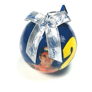 Jeff Gordon #24 Blue Silver Bow 2003 Dupont Nascar Holiday Ornament Collectible