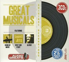 GREAT MUSICALS - 3 CD BOX SET - SOUND OF MUSIC * WEST SIDE STORY & OLIVER