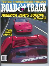 Road & Track Magazine August 1987 Honda Prelude, Ford Thurderbird Turbo,Saab 900