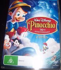 Pinocchio 70th anniversary Walt Disney 2 DVD (Aust Region 4) DVD - Like New