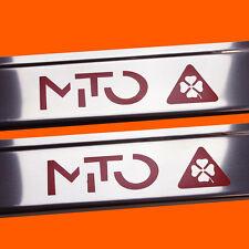 411715 BRILLANT 2 LES SEUILS DE PORTE ALFA ROMEO MITO LETTRAGE ROUGE MITO S