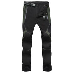 Mens Soft Shell Casual Hiking Cargo Trousers Tactical Combat Work Pants Outdoor