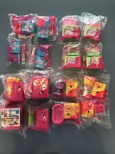 2018 Mcdonalds Shopkins Happy Places Happy Meal Toys Set Of 16 New in bag