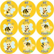 144 Be Kind Buzzing Bee 30mm Reward Stickers for School Teachers, Parents