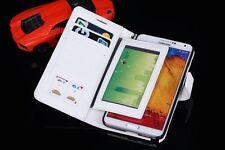 Cartera De Cuero Funda cubierta para Samsung Galaxy Note 3 N9000 N9005 Gratis Correa De Muñeca