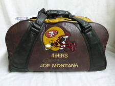 Signed Joe Montanta San Francisco 49ers Belding Leather Duffle Bag JSA J58446