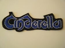 CINDERELLA PATCH Embroidered Iron On Badge GLAM ROCK BAND LOGO NIGHT SONGS NEW