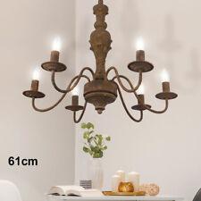 Pendel Hänge Lampe Wohn Zimmer Holz Lüster Decken Strahler Kronleuchter Seil