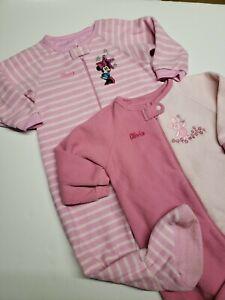 Disney store pink blanket sleeper pajamas piglet mimi toddler girl size 2T