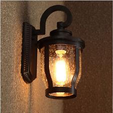 Vintage Glass Wall Lights Sconce Aisle/Garden Lights Rainfpoor Wall Lamp 1523HC