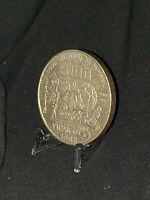 1985 Mexico Mo 100 Pesos Silver Soccer  silver Genuine  WITH TONED