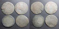 Lot de 4 monnaies royales billon
