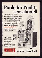3w2847/Ancienne Publicité de 1969-EUMIG projecteur de Mark 501