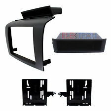 Radio Replacement Dash Mount Install Kit Single/Double-DIN w/Pocket for Mazda 3