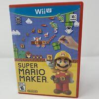 Super Mario Maker Nintendo Wii U Game Complete Tested