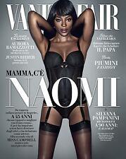 Vanity Fair Magazine Italy Naomi Campbell JUSTIN BIEBER NEW