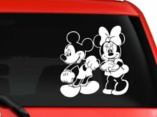 """Mickey Mouse and Minnie Mouse Disney Cartoon car decal sticker 6"""" white"""