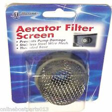 BOAT THRU TRANSOM AERATOR  PUMP SCREW ON STAINLESS STEEL WIRE MESH STRAINER, 1""