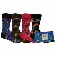 Happy Socks 4-Pack Forest Socks Gift Pack, Blue/Brown/Pink/Black One Size