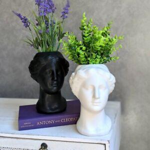 Black White Sculpture Ceramic Vase Planter