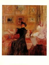 "1974 Vintage VUILLARD ""LE DIVAN ROUGE"" GORGEOUS RED COLOR offset Lithograph"
