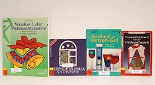 Window Color Weihnachtsmotive/ Weihnachtsschmuck Tonpapier/Fensterdeko/Kerzengel