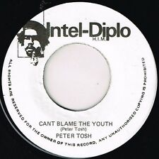 """PETER TOSH-can't blame the youth    intel diplo 7""""    (hear)   roots reggae"""