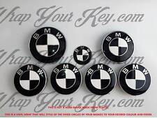 WHITE & BLACK GLOSS Badge Emblem Overlay FOR BMW HOOD TRUNK RIMS @FITS ALL BMW@