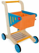 Hape Shopping Cart Pre-School Young Children Toddler Wooden Toy Game Bn